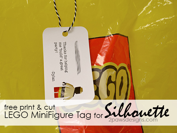 free print & cut LEGO MiniFigure Tag for Silhouette