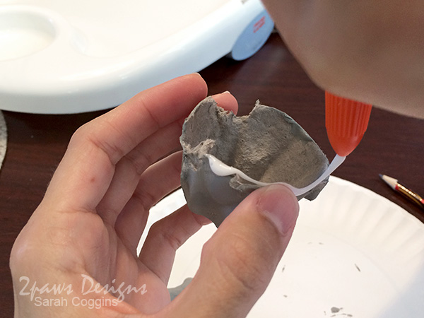 Shark Week: Egg Carton Shark - glue body