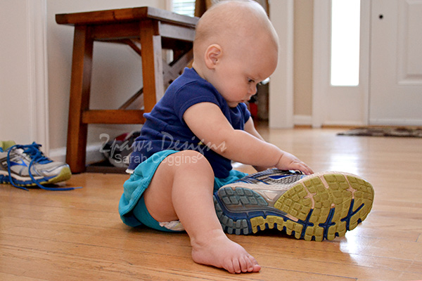 #BackToClean: Taking off Dirty Shoes (and putting them out of baby's reach!)