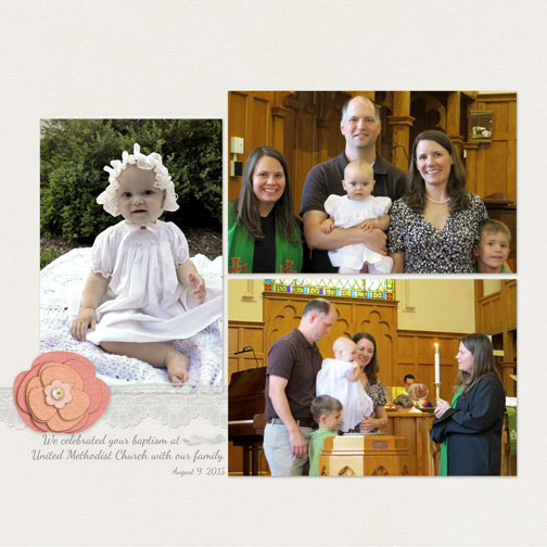 Baptism - Digital Scrapbook Page