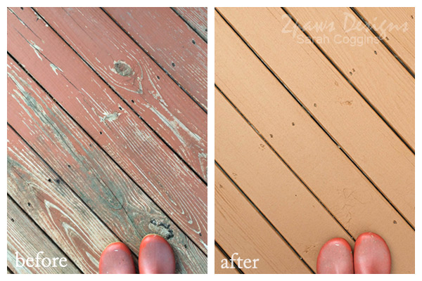 Deck Resurface Before & After #foreclosuretohome