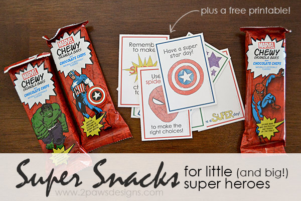 Super Snacks for Little (and big!) Super Heroes
