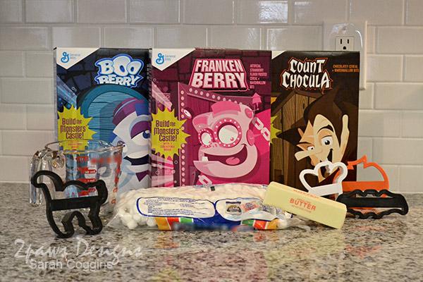 Monster Cereal Treats: Ingredients #SpooktacularSnacks #MonsterCereals