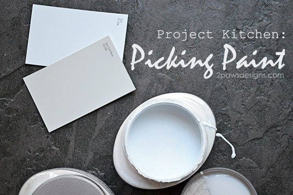 Project Kitchen: Picking Paint #foreclosuretohome