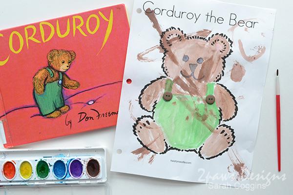 Corduroy the Bear Crafts