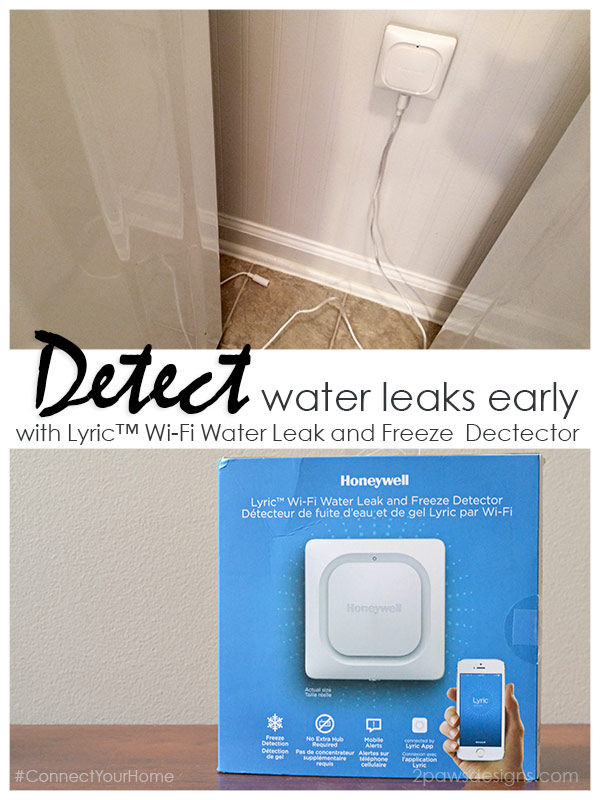 Detect Water Leaks Early with Lyric™ Wi-Fi Water Leak and Freeze Detector #ConnectYourHome #ad