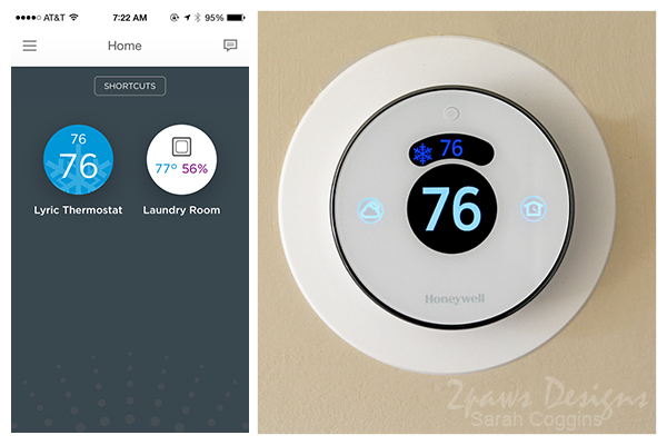 Honeywell Lyric App & Thermostat #ConnectYourHome #ad