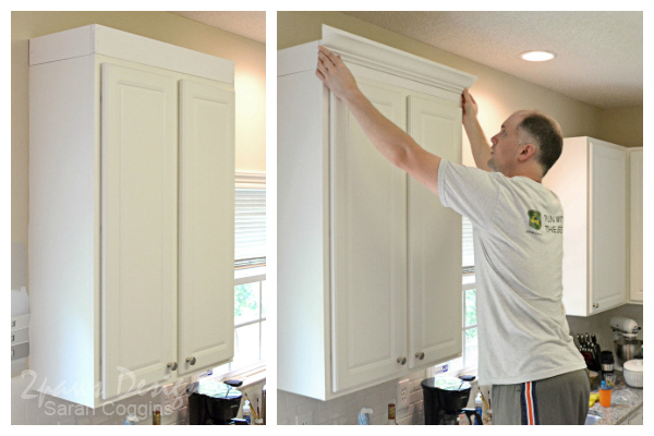 Project Kitchen: Upper Cabinet Moulding - Dry Fit