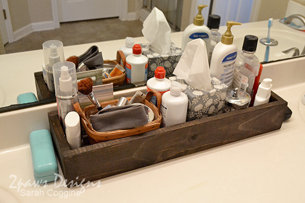 DIY Bathroom Organizer: complete