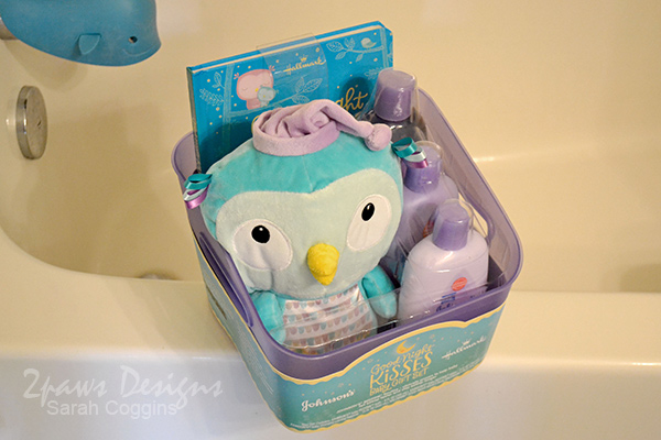 Johnson's Good-Night Kisses Bath Gift Set featuring Hallmark Book & Plush Owl #LoveHallmark
