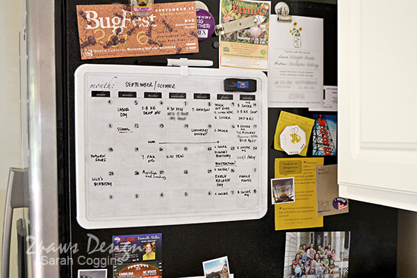 Kitchen: Dry Erase Family Calendar