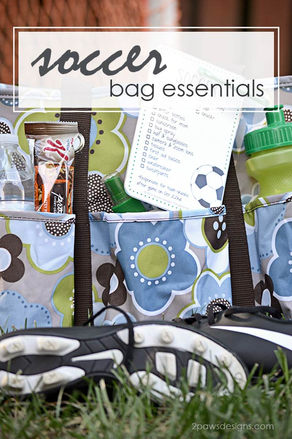 Soccer Bag Essentials including free printable