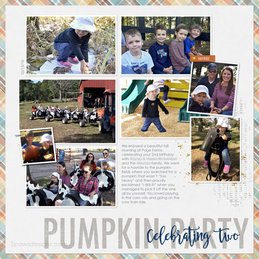Pumpkin Birthday Party digital scrapbooking page