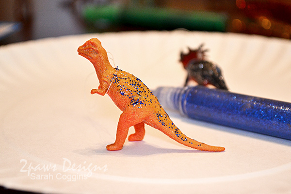 DIY Dinosaur Ornaments: Add Glitter