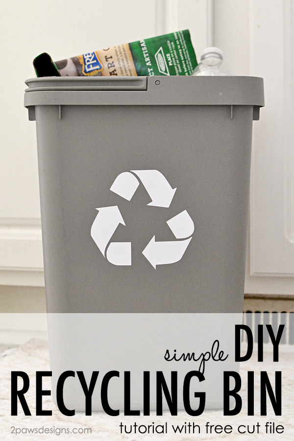 Simple DIY Recycling Bin Tutorial with Free Cut File