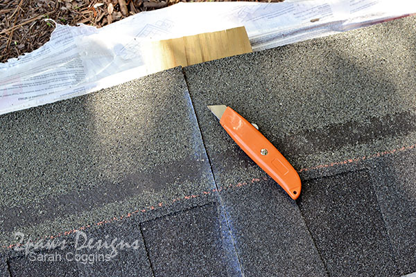 Cutting GAF Timberline® Shingles #ad #RoofedItMyself