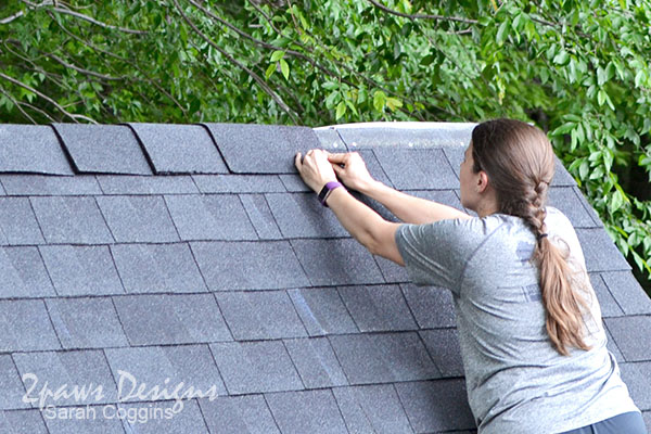 Playset Makeover Simple DIY Roof Replacement Tutorial – How To Install Roof Cap Shingles