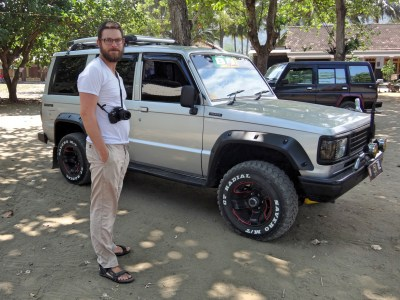 Christopher and our 4x4.