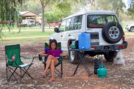 Camping, Allison style.