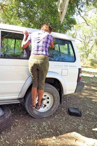 How I remove a tire.