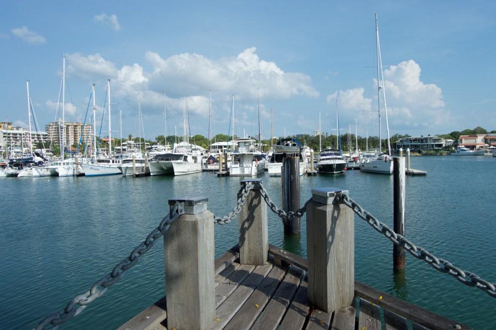 Boats in Cullen Bay Marina.