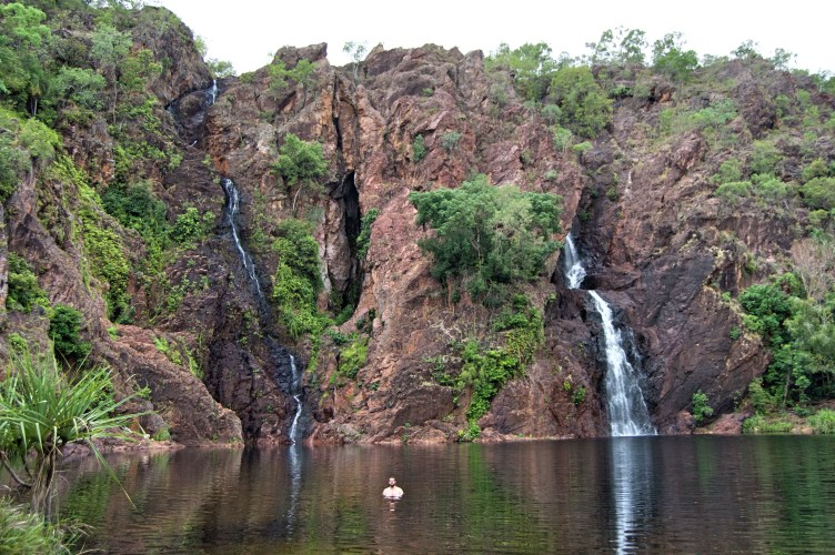 Wangi Falls all to ourselves.