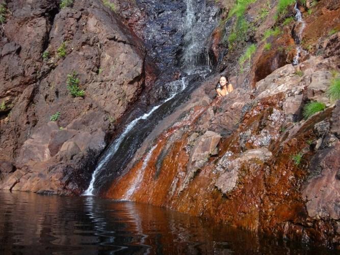 Wangi Falls hidey-hole.