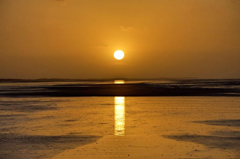 Sunset over Eighty Mile Beach.