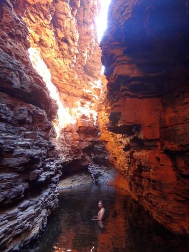 Exploring Weano Gorge.