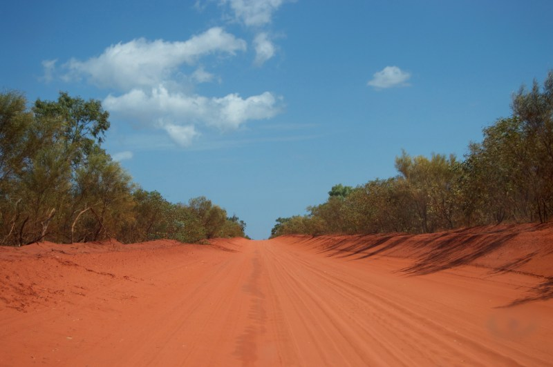 The sandy road to Cape Leveque.