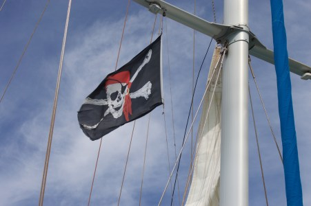 Pirate catamaran.