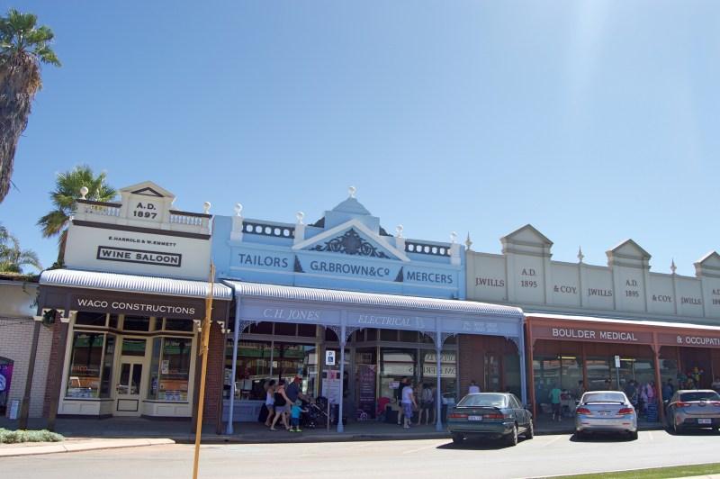 Old-timey buildings in Kalgoorlie.