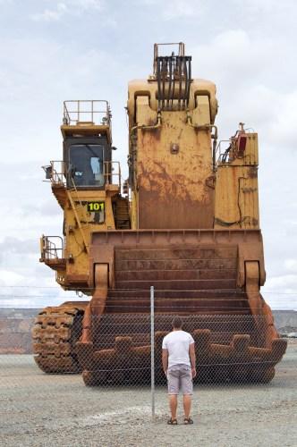 Very large machinery.