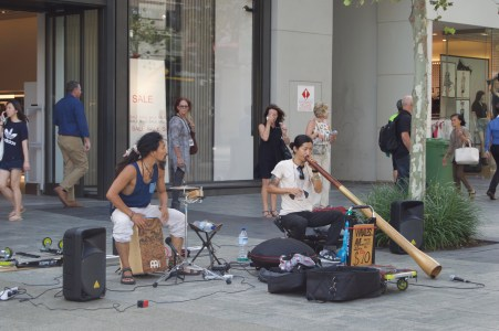 Buskers.