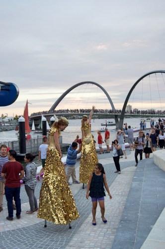 Festivities at the quay.