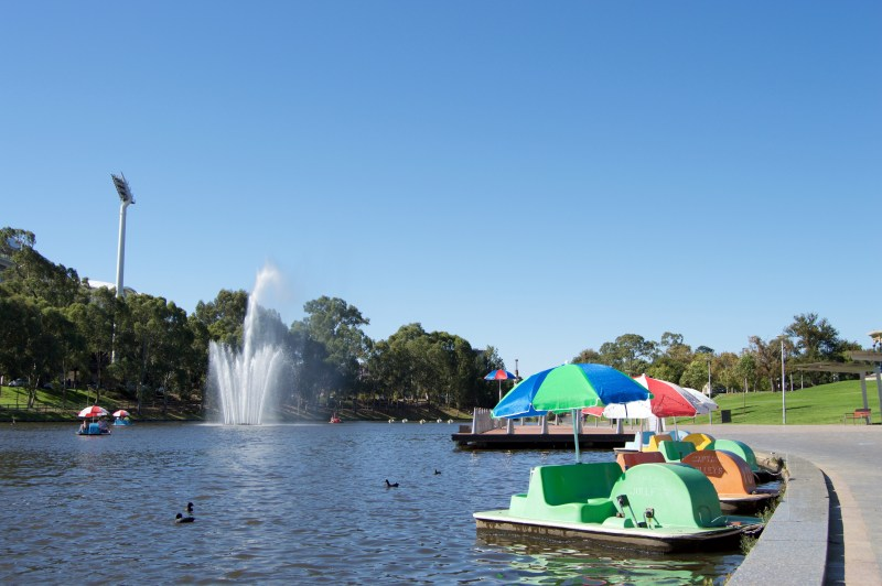 The River Torrens.