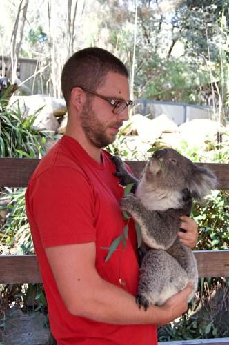 Chris and koala.