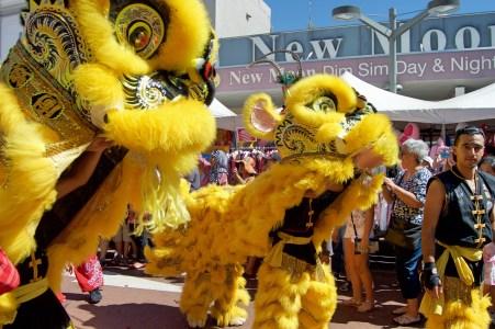 Lion dancers!