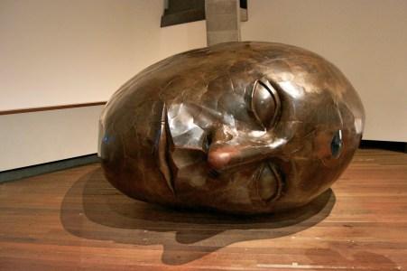 A giant head.