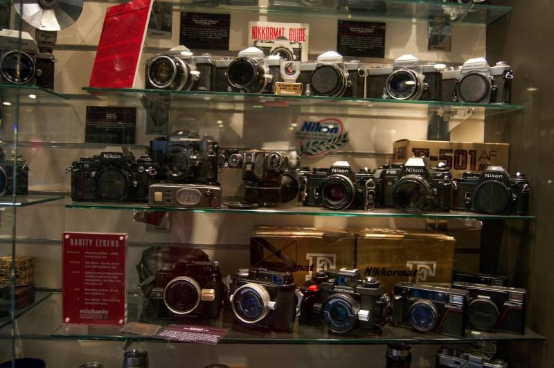 Inside the camera museum.