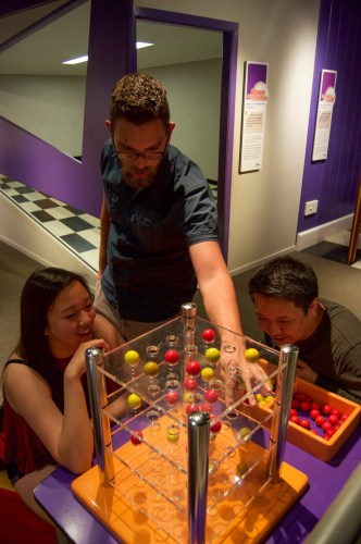 Games in the Sciencentre.