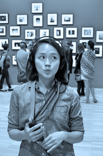 "This is my ""trying to understand art"" face."