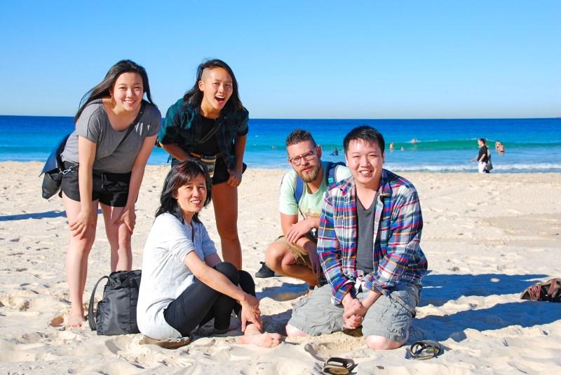 Beach gang.