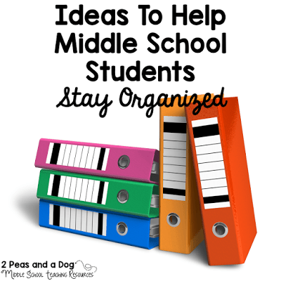 Great tips from 2 Peas and a Dog on how to keep a rotary middle school classroom and middle school students organized.