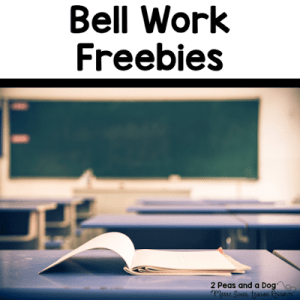 Bell Work Freebies