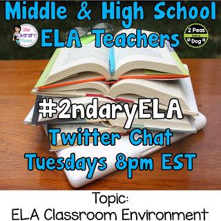 #2ndaryELA Twitter Chat Topic: The ELA Classroom Environment
