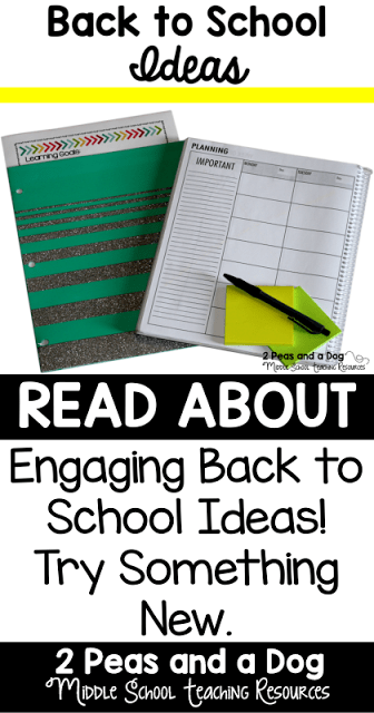 Back to school ideas and lessons for middle school teachers.