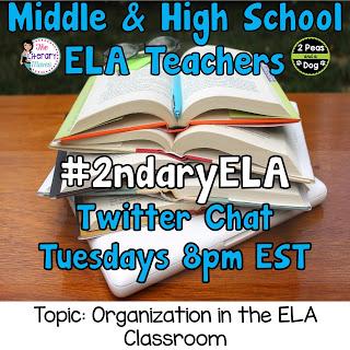 #2ndaryELA Twitter Chat Topic: Organization in the ELA Classroom