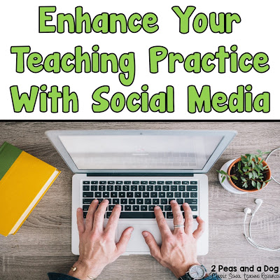 Social media sites are a great place to look for new ideas and current education trends. This blog post provides an outline of how teachers can use Facebook, Twitter, Blogs, Instagram and Pinterest to enhance their teaching practice from the 2 Peas and a Dog blog.