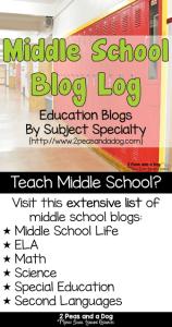 Middle School Blog Log